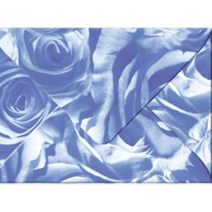 "Transparentpapier-Kuverts ""Rosen"" 115 g/qm mittelblau - 5 Stück"