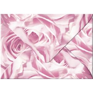 """Transparentpapier-Kuverts """"Rosen"""" 115 g/qm rose - 5 Stück"""