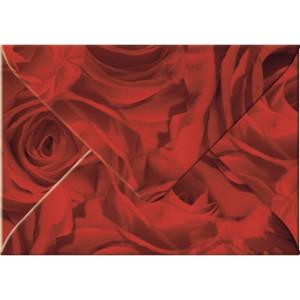 """Transparentpapier-Kuverts """"Rosen"""" 115 g/qm rot - 5 Stück"""