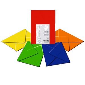 "Transparentpapier-Kuverts ""Uni"" 115 g/qm Intensivfarben - 5 Stück"