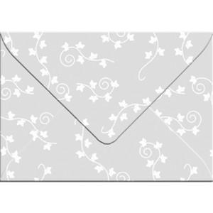 "Transparentpapier-Kuverts ""White Line"" 115 g/qm Efeu - 5 Stück"