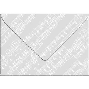 """Transparentpapier-Kuverts """"White Line"""" 115 g/qm Noten - 5 Stück"""