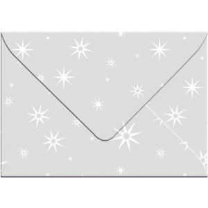 "Transparentpapier-Kuverts ""White Line"" 115 g/qm Sterne - 5 Stück"