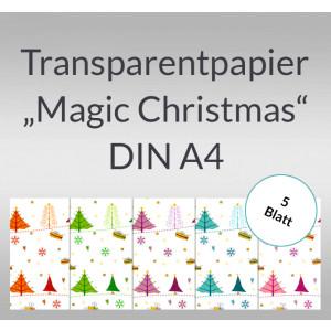 "Transparentpapier ""Magic Christmas"" DIN A4 - 5 Blatt"