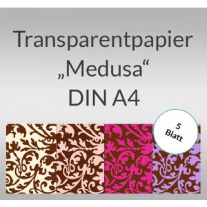 """Transparentpapier """"Medusa"""" DIN A4 - 5 Blatt"""
