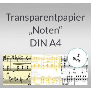 """Transparentpapier """"Noten"""" DIN A4 - 5 Blatt"""