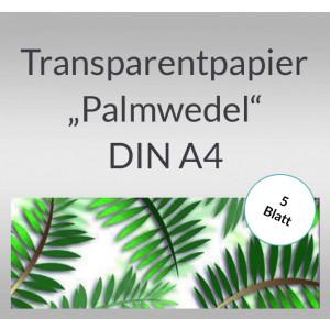 "Transparentpapier ""Palmwedel"" DIN A4 - 5 Blatt"