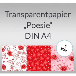 "Transparentpapier ""Poesie"" DIN A4 - 5 Blatt"