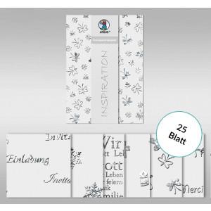 """Transparentpapier """"Silver Style"""" DIN A4 - 25 Blatt"""