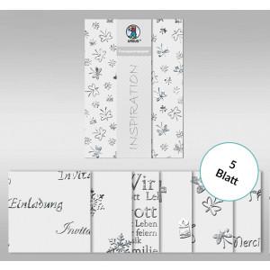 """Transparentpapier """"Silver Style"""" DIN A4 - 5 Blatt"""