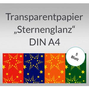 """Transparentpapier """"Sternenglanz"""" DIN A4 - 5 Blatt"""