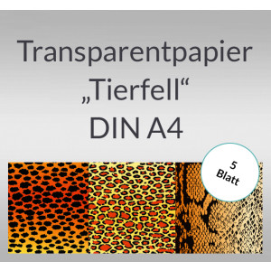 """Transparentpapier """"Tierfell"""" DIN A4 - 5 Blatt"""