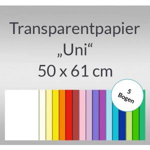 """Transparentpapier """"Uni"""" 50 x 61 cm - 5 Rollen"""