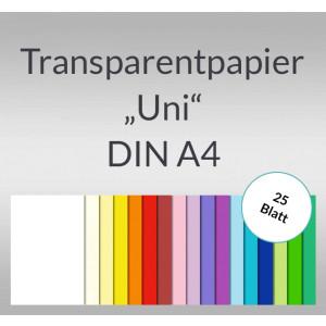 "Transparentpapier ""Uni"" DIN A4 - 25 Blatt"