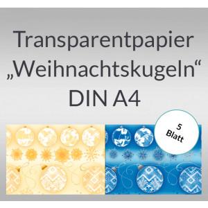 """Transparentpapier """"Weihnachtskugeln"""" DIN A4 - 5 Blatt"""