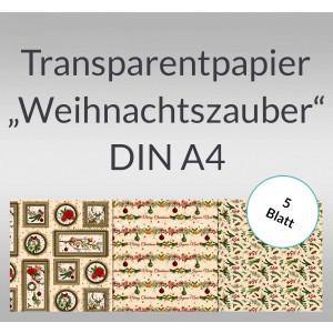"""Transparentpapier """"Weihnachtszauber"""" DIN A4 - 5 Blatt"""