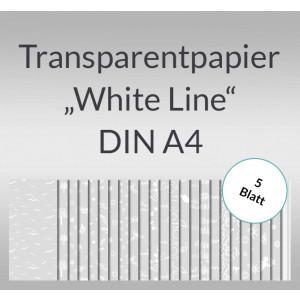 "Transparentpapier ""White Line"" DIN A4 - 5 Blatt"