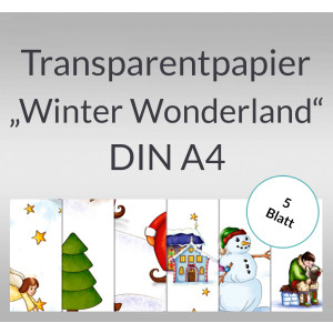 "Transparentpapier ""Winter Wonderland"" DIN A4 - 5 Blatt"