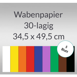 Wabenpapier 34,5 x 49,5 cm - 5 Blatt