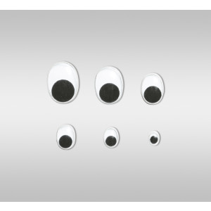 Wackelaugen oval 15 mm - 100 Stück