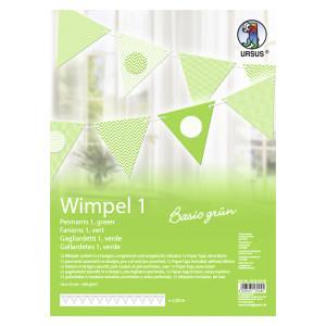 """Wimpel 1 """"Basic grün"""""""