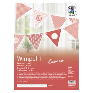 "Wimpel 1 ""Basic rot"""