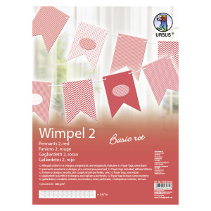 "Wimpel 2 ""Basic rot"""