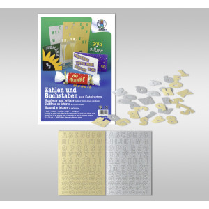 """Zahlen und Buchstaben """"gold und silber"""""""