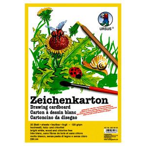 Zeichenkarton 120 g/qm DIN A4 - 50 Blatt