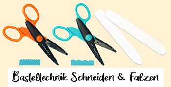 Basteltechnik Schneiden & Falzen