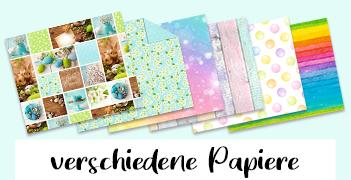 Bunterpapierwelt – Verschiedene Papiere